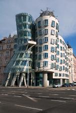 The peculiar dancing House in Prague