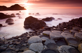 A view of the pillars of Giant's Causeway