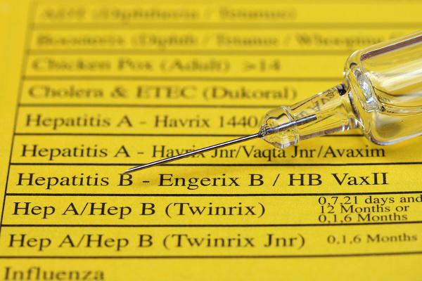 Hepatitis A injection