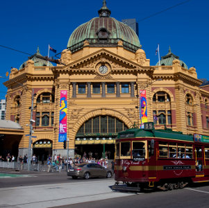 The City Circle Tram in Melbourne