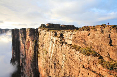 The sheer walls of Mount Roraima