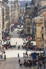 The Royal Mile in Old Town Edinburgh