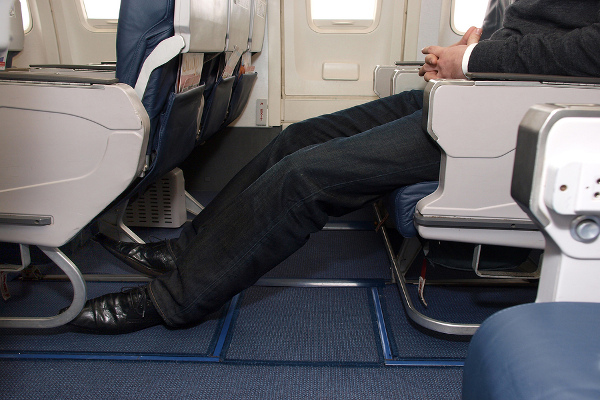 Legroom on a plane