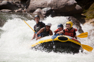 Raft in White Water